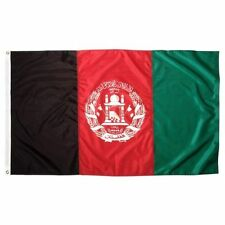 2x3 Afghanistan Double Sided 2ply Sewn Nylon Flag 2'x3' Banner Brass Grommets