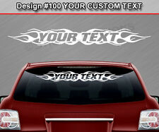 #100 PERSONALIZED Text Custom Name Windshield Window Decal Graphic Sticker Flame
