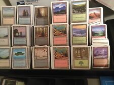 100 WHITE BORDER - Basic Land Lot - 20 each - Magic the Gathering MTG FTG