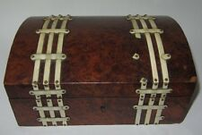 ANCIENNE BOITE A BIJOUX COUTURE VERS 1850 antique jewellery box jewelry