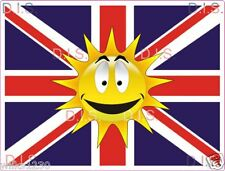 2x smiley Union Jack england decals fun stickers self adhesive vinyl flags dub