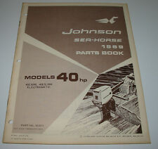 Parts Book Ersatzteilkatalog Johnson Sea Horse Model 40 HP Electramatic 1969!