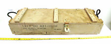 Vintage USAF Military Ammo Case Crate Plug Casings Wood Art Project Box Chest
