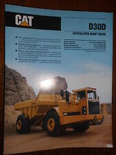 Baumaschinen Prospekt Brochure CAT Caterpillar articulated dump trucks Cat D30D