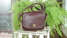 COACH VINTAGE MAHOGANY BROWN LEATHER LEGACY TRAIL SADDLE SHOULDER HANDBAG ~ 9965