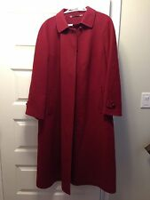 SALKO of AUSTRIA Loden Of Tirol Alpaca Wool Top Coat Size 14 / 44 Burgundy EUC