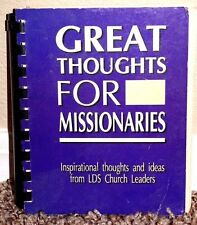 GREAT THOUGHTS FOR MISSIONARIES, LEADERS by Garrison LDS MORMON SPIRAL BOUND PB