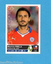 COPA AMERICA 2015 CHILE-Figurina n.43- PINILLA - CILE -NEW-BLACK BACK