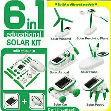 6 in 1 DIY Creative Power Solar Robot Kit Kids Educational Learning Toys Gift