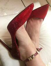 Valentino Rouge Absolute Crystal Rockstar Ankle Strap Pump; $2595 retail value