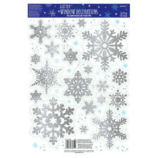 19 Christmas Frozen Snowflake Glitter Window Vinyl Party Decorations