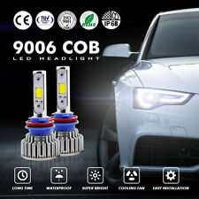 Pair 9006 HB4 120W 12000LM CREE LED HEADLIGHT Kit LOW BEAM BLUBS 6000K For TIDA