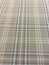 Blue And Grey Tartan Camper Van Car Auto Upholstery Cloth Material Fabric Scrim