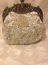 Beautiful And Elegant Hand Beaded Vintage1920S Style Handbag 'buy It Now' Silver