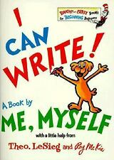 I Can Write! A Book by Me, Myself by Dr. Seuss Hardcover Oversized Like New