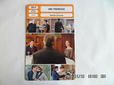 CARTE FICHE CINEMA 2014 UNE PROMESSE Alan Rickman Rebecca Hall Richard Madden