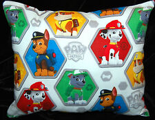NEW HANDMADE MINI WHITE PAW PATROL TODDLER/ TRAVEL/ CAR PILLOW SAME FRONT & BACK