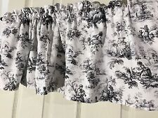 Waverly White And Black Toile Curtain  Valance