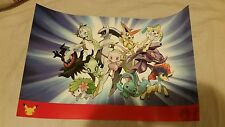 Pokemon 20th Anniversary Poster 11x17 ready to be shipped