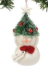 DEPT 56 SNOWPINIONS SNOWMAN 'ALL SPRUCED UP' XMAS TREE ORNAMENT  3""