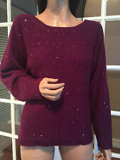 $288 NWT NEIMAN MARCUS 100% Cashmere Sequence Sweather sz L