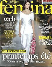 VERSION FEMINA N°720 18 JANVIER 2016 COLLECTIONS PRINTEMPS-ETE/ DICAIRE/ LYON