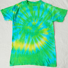 Cool Green Tie Dye T Shirt - Mens Small Soft 100% Cotton Short Sleeve  Cool