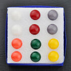 Wholesale lots 6 pairs Round Mixed Color Earrings ED132
