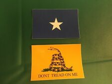 TWO! BONNIE BLUE CONFEDRETE DIXIE GADSDEN UV VINYL FLAG DECAL STICKER 2X3 3X2