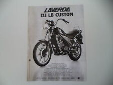 advertising Pubblicità 1984 MOTO LAVERDA 125 LB CUSTOM