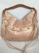 Botkier Gold Champagne Metallic Studded Leather Purse Handbag