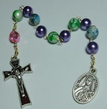 St Therese of Lisieux Relic Single Decade Rosary Gardeners HIV & Tuberculosis