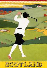 Golf-Escocia-Viajes Vacaciones A3 arte cartel impresión de vacaciones