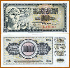 Yugoslavia, 1000 Dinara, 1981, P-92 (92d), UNC