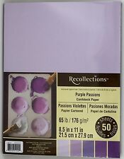 Recollections Purple Passion Cardstock Paper 65 lb. 50 sheet pack 8.5 x 11 in.