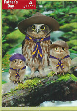 Owl Scout Master Owls Boy Scouts Cub Scouts FATHERS DAY CARD New