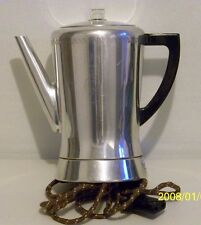VINTAGE WEST BEND FLAVOMATIC ELECTRIC AUTOMATIC COFFEE PERCULATOR 400 W 120V