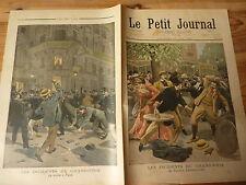PETIT JOURNAL- 1899 N° 449 bagarres ARMENONVILLE et en soirée PARIS