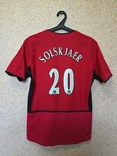 Manchester United ENGLAND 2002/2004 HOME FOOTBALL SHIRT JERSEY #20 SOLSKJAER