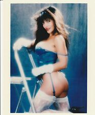 KIMBERLY TAYLOR 8x10 SEXY BLUE OUTFIT PENTHOUSE PET OF MONTH 1988 DECEMBER