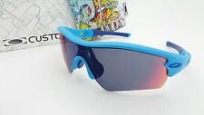 NEW Custom Oakley Radar Path Sunglasses Sky Blue / Positive Red Iridium Lens