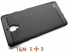 Combo Deal Glass & Dotted Back Cover Case Soft for Oneplus 3 (Oneplus three)