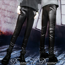 New 1/3 BJD SD UNCLE Doll Clothes Black Elastic Leather Pants/Leggings/Outfit
