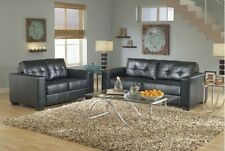 Contemporary Modern Leather sofa set, sofa and Loveseat, living room furniture