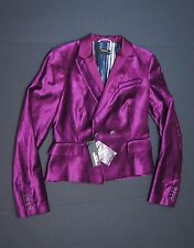 "DIESEL BLACK GOLD Velvet 'BYFFY"" Blazer Purple size S NEW NWT $650"