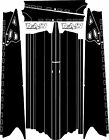 POLARIS RUSH PRO-RMK 600/800 SNOWMOBILE SLED 163 TUNNEL WRAP DECALS STIKERS