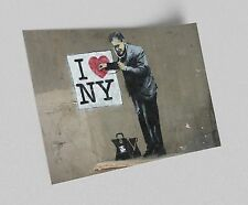 ACEO Banksy I Love New York Graffiti Street Art Canvas Giclee Print