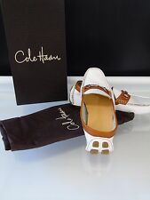 Cole Haan Woman Size 8B White SHELBY BIT.II Driving Shoes Moccasins Ret $150 New