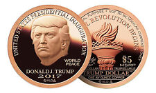 20 Coin Roll Lot Of 2017 Trump Dollar Inaugural 1 oz .999 Copper USA Rounds