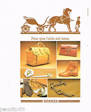 PUBLICITE ADVERTISING 075  1977  La boutique HERMES cravates bijoux chaussures
